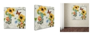 "Trademark Global Jean Plout 'Jaime mon Jardin 2' Canvas Art - 18"" x 18"" x 2"""
