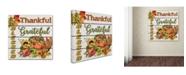 "Trademark Global Jean Plout 'Thanksgiving 5' Canvas Art - 14"" x 14"" x 2"""
