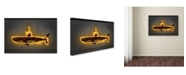 "Trademark Innovations Octavian Mielu 'Yellow Submarine' Canvas Art - 24"" x 16"" x 2"""