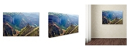 "Trademark Global Mike Jones Photo 'Kauai Waimea Canyon Waipoo Falls' Canvas Art - 47"" x 30"" x 2"""