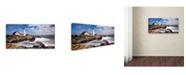 "Trademark Global Mike Jones Photo 'Portland Head Light' Canvas Art - 47"" x 24"" x 2"""