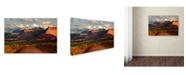 "Trademark Global Mike Jones Photo 'Rt 128 Vastle Valley' Canvas Art - 24"" x 16"" x 2"""
