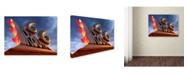 "Trademark Global Mike Jones Photo 'Tucumcari 66 Sculpture' Canvas Art - 19"" x 14"" x 2"""