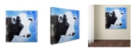 """Trademark Global Michelle Faber 'Black And White Cow' Canvas Art - 18"""" x 18"""" x 2"""""""
