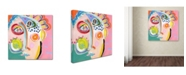 "Trademark Global Wyanne 'Cheer Up' Canvas Art - 14"" x 14"" x 2"""