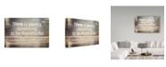 "Trademark Global Vintage Skies 'Thankful' Canvas Art - 24"" x 16"" x 2"""