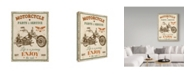 """Trademark Global Jean Plout 'Vintage Motorcycle Mancave' Canvas Art - 24"""" x 18"""" x 2"""""""