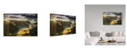 "Trademark Global Piotr Krol 'In The Morning Mists' Canvas Art - 32"" x 2"" x 22"""