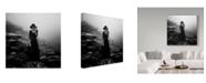 """Trademark Global Mikhail Potapov 'Black Hat' Canvas Art - 14"""" x 2"""" x 14"""""""