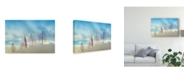 "Trademark Global Miki Meir Levi 'Transparent Leaves' Canvas Art - 19"" x 2"" x 12"""