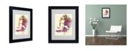 """Trademark Global Naxart 'Challenger Girl' Matted Framed Art - 14"""" x 11"""" x 0.5"""""""