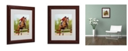 "Trademark Global Michelle Moate 'Horse of Sport III' Matted Framed Art - 14"" x 11"" x 0.5"""