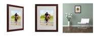 "Trademark Global Michelle Moate 'Horse of Sport X' Matted Framed Art - 20"" x 16"" x 0.5"""