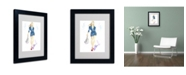 "Trademark Global Jennifer Lilya 'Navy Cool' Matted Framed Art - 14"" x 11"" x 0.5"""