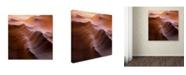 "Trademark Global Moises Levy 'Smooth I' Canvas Art - 14"" x 14"" x 2"""