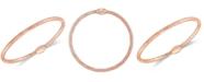 Italian Gold Stretch Mesh Bangle Bracelet in 14k Gold, White Gold or Rose Gold