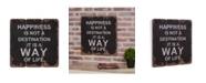 "Danya B ""Happiness is a Way of Life"" Wooden Wall Art"