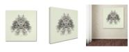 """Trademark Global Nadav Jonas 'Rorschach Test' Canvas Art - 14"""" x 14"""" x 2"""""""