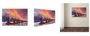 "Trademark Global Yan Zhang 'Glenorchy On Fire' Canvas Art - 19"" x 12"" x 2"""