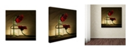 """Trademark Global Wieteke De Kogel 'Sorry Full' Canvas Art - 14"""" x 14"""" x 2"""""""