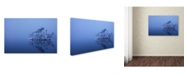 "Trademark Global Ikuo Iga 'Snowy Morning' Canvas Art - 47"" x 30"" x 2"""