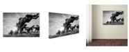"Trademark Global Sharon Lee Chapman 'Cheltenham Jumps Festival' Canvas Art - 24"" x 16"" x 2"""