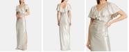 Lauren Ralph Lauren Shimmer Metallic Evening Gown