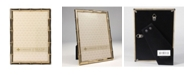 """Lawrence Frames Gold Metal Picture Frame with Bamboo Design - 5"""" x 7"""""""