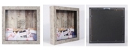 """Lawrence Frames Weathered Birch Shadow Box Ticket Holder - 10"""" x 10"""""""