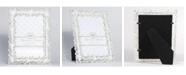 "Lawrence Frames Jasmond Silver Metal Frame with Crystal Spray - 5"" x 7"""