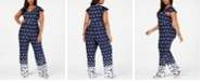 NY Collection Petite Plus Size Flutter-Sleeve Jumpsuit