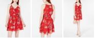 BCX Juniors' Ruffle-Detail Fit & Flare Dress