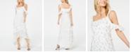 Rachel Zoe Joanna Printed Asymmetric Ruffled Midi Dress
