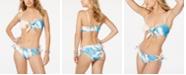 Roxy Juniors' Summer Delight Printed Strapless Bandeau Top & Bikini Bottoms