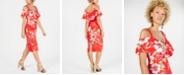 RACHEL Rachel Roy Off The Shoulder V-Neck Ruffle Dress