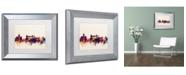 """Trademark Global Michael Tompsett 'Rome Italy Skyline' Matted Framed Art - 11"""" x 14"""""""
