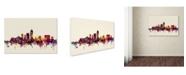 "Trademark Global Michael Tompsett 'Indianapolis Indiana Skyline' Canvas Art - 12"" x 19"""