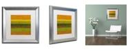 "Trademark Global Michelle Calkins 'Purple Line' Matted Framed Art - 16"" x 16"""