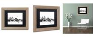 """Trademark Global Michael Tompsett 'Sydney Australia Skyline B&W' Matted Framed Art - 11"""" x 14"""""""