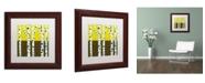 """Trademark Global Michelle Calkins 'Seasonal Birches - Fall' Matted Framed Art - 11"""" x 11"""""""