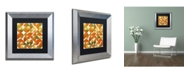 "Trademark Global Michelle Calkins 'Sixty Four Quarters' Matted Framed Art - 11"" x 11"""