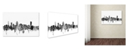 "Trademark Global Michael Tompsett 'Montreal Canada Skyline B&W' Canvas Art - 12"" x 19"""