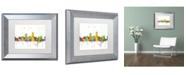 "Trademark Global Marlene Watson 'Omaha Nebraska Skyline Mclr-1' Matted Framed Art - 11"" x 14"""