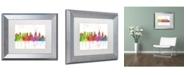 "Trademark Global Marlene Watson 'Philadelphia PA Skyline Mclr-1' Matted Framed Art - 11"" x 14"""