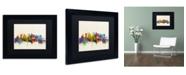 """Trademark Global Michael Tompsett 'Tokyo Japan Skyline II' Matted Framed Art - 11"""" x 14"""""""