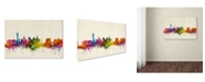 "Trademark Global Michael Tompsett 'Las Vegas Nevada Skyline II' Canvas Art - 12"" x 19"""