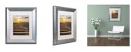 """Trademark Global PIPA Fine Art 'Sandbars' Matted Framed Art - 11"""" x 14"""""""