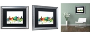 "Trademark Global Marlene Watson 'Nashville Tennessee Skyline SP' Matted Framed Art - 16"" x 20"""