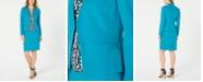 Calvin Klein Crepe Jacket, Printed Top & Pencil Skirt