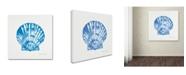 "Trademark Global Stephanie Marrott 'Shell In Blue' Canvas Art - 14"" x 14"""